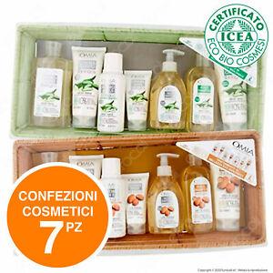 Omia Kit Cosmetici da 7 Crema Shampoo Balsamo Sapone Ecobiologico Scelta Cestino