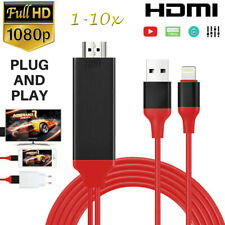 LOT Lighting to HDMI Adapter Cable 1080P Digital AV TV For iPhone 6/7/8 X iPad