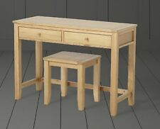 NEW Tesco Ruskin 2 Drawer Dressing Table and Stool Seat Set (Solid Oak)