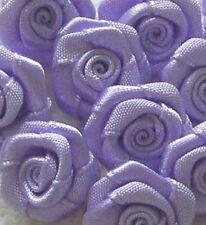 Lot de ROSES en satin grand modèle couleur lilas