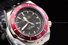 Invicta Men's 53mm Pro Diver Automatic Red Bezel Black Dial Silicone Strap Watch