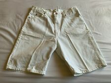 Levi's 550 Relaxed Fit White Denim Shorts - Orange Tab, Size 36
