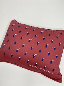 Southern Tide The Skipjack Chino Happy Feather Breakfast Pillow •12x16 *EUC