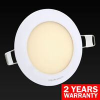 6W LED ROUND or SQUARE Recessed Ceiling Flat Panel Down Light Ultra Slim 120mm