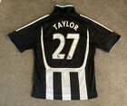 Newcastle United 2007-09 Home Shirt, Large, TAYLOR 27, Very Good Condition