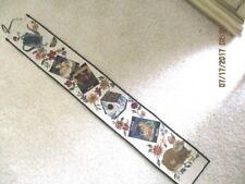 """New listing 40"""" x 6"""" Long Vegetable Rabbit Bird House Water Can Tapestry Wall Hanging"""