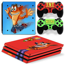 Krash Bandicoot PS4 Pro Skin for PS4 Pro Console & 2 Controllers