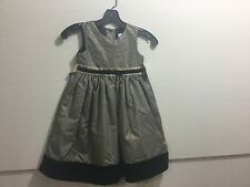 Perfectly dressed girls size 5 black and gold dress
