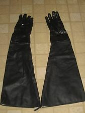"Industrial Rubber Chemical Clean Up Gloves Shoulder Length 30"" Heavy Duty"