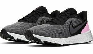 Authentic Nike Revolution 5 / Black/Psychic Pink/Gray / Woman's / NIB / Reg $65