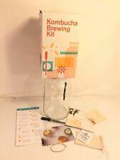 Kombucha Brewing Kit 1 Gallon Glass Brew Jar With Extras