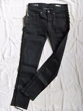We are Replay señora blue jeans Denim elástico w27/l30 low waist RAW tapered leg
