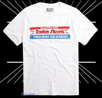 New Radio Shack Two Way CB Radio White Vintage Men's Retro T-Shirt