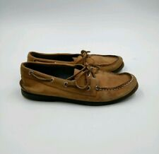 Sperry Top-Sider Men's Leather Cross-Lace Sahara Boat Shoes sz 8M