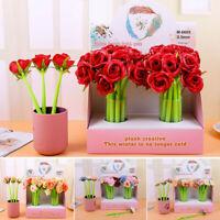 Creative Flower Gel Pen Black Ink Student School Office Supplies Stationery Gift