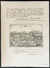 1926 - Lithographie citation de Comte de Brocqueville, Cooreman - Guerre 14/18