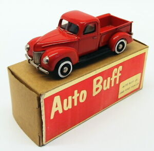 Auto Buff 1/43 Scale #6 - 1940 Ford Pick Up Truck - Red
