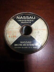 Nassau Pedigreed Products Stearine Core Solder