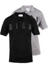 John Richmond Herren Poloshirt | Front-Logo in Leder-Design & Hochwertiges Baumw