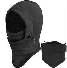 4 in 1 Mens BLACK SNOOD Fleece scarf Hood Balaclava Neck Winter warmer Face Mask