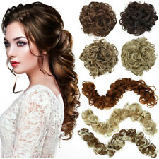 LONG Messy Bun Hair Piece Curly Scrunchie Wrap On Updo False Hair Extensions 32