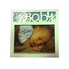 Marco de madera blanca NIÑERA NIÑO bebé 20x20cm por VIRCA