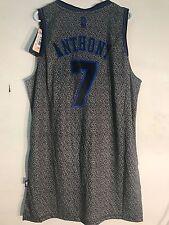 Adidas Swingman NBA Jersey Knicks Carmelo Anthony Grey Static sz 2X