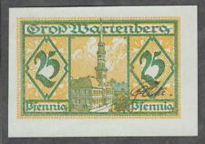 Gross Wartenberg -Stadt- 25 Pf. KNr. schwarz