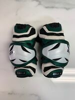 STX Cell 2 Size Large Adult Green/White Lacrosse Arm Guards