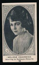 1922 W585 Actor Series (Like E123) #58 HELENE CHADWICK (Goldwyn Pictures)