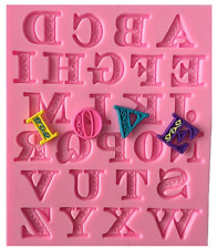 Letter Alphabet Silicone Mold, Lace Letters Mold, Letter Fondant Cake SM0165