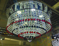 Red Black Crystal Chandelier Dimmable white LED Ceiling light Lamp It-PL-40LEDRB