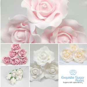 SUGAR ROSE WEDDING  BIRTHDAY CAKE TOPPER FLOWER DECORATION  *MULTI BUY PAY 1 P&P
