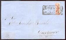 MEXIKO 1856 4IH HALBIERUNG auf BRIEF ATTEST BPP(E7180b