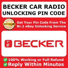 BECKER RADIO PIN CODE DECODE UNLOCK BMW ASTON MARTIN MERCEDES BENZ FERRARI ✅