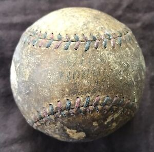 Vintage Red & Blue Stitched Baseball Ball