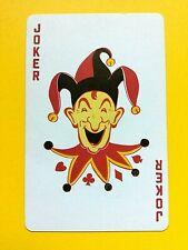 Smiling Jester Yellow/Red Collar Variation Joker Single Swap Playing Card