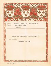 SWEDEN OLD PICTORIAL TELEGRAM USED GOTEBORG  LOCAL 1931 CROWN COAT ARMS FLOWERS