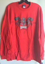 Men's Polaris Long Sleeve Dragon T-Shirt in Red (size XL)