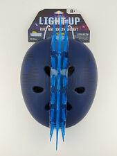 Krash! Skull Maze Blue Light Up LED Bike and Skate Helmet Kids Youth 8+ 54-58cm