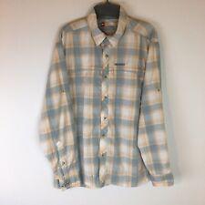 Simms Guide Series Fishing Shirt Men Large Long Sleeve Button Front Nylon Plaid