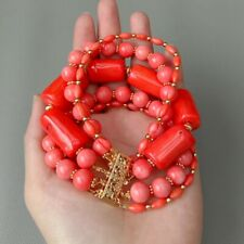 5 strands Multi Shape Red Coral 8''Bracelet