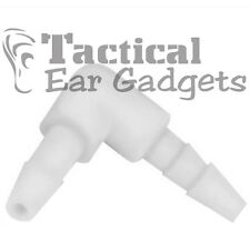 5x Tactical Ear Gadgets™ Replacement Clear Elbow Connectors for Acoustic Tube