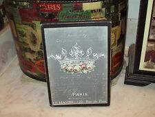 Paris wall decor crown sign chalkboard look Shabby French chic vintage