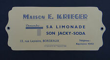 BUVARD Maison KRIEGER Limonade JACKY-SODA Bordeaux Aquitaine blotter Löscher 1
