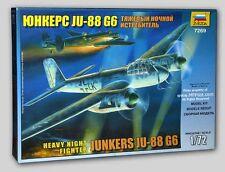 Zvezda 7269 Junkeres Ju-88G6 Nightfight 1/72 Scale Plastic Airplane Model Kit