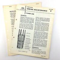1964 Electro Motive Diesel Locomotive Cylinder Liner Operating Guide GM EMD Q878