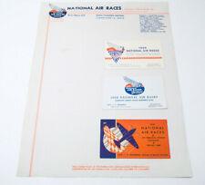 1948 & 1938 Cleveland National Air Races Letterheads & 1937 1938 1939 Cards Race
