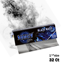 Juicy Jay's Black Magic Flavored 1 1/4 Size Rolling Papers 32ct, Raw, Elements