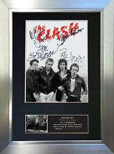 More details for the clash signed autograph mounted photo reproduction a4 print 608
